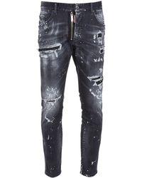 DSquared² Jeans Cool Guy De Denim De Algodón 18cm - Negro