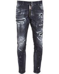 "DSquared² 18cm Jeans Aus Baumwolldenim ""cool Guy"" - Schwarz"