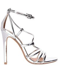Steve Madden - 100mm Smith Metallic Faux Leather Sandal - Lyst