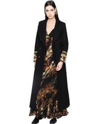 Etro | Wool Coat With Embellished Cuffs | Lyst
