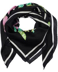 Balenciaga Floral Printed Silk Scarf - Mehrfarbig