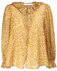 Zimmermann - Рубашка Из Хлопка С Оборками Carnaby - Lyst