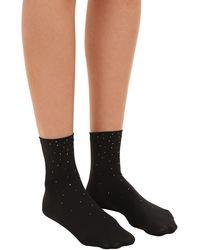 Wolford Socken Mit Kristallen - Schwarz
