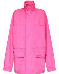 Balenciaga リップストップパーカージャケット - ピンク