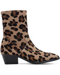 newest 755e1 34da5 Christian Louboutin 85mm Belle Printed Ponyskin Boots - Lyst