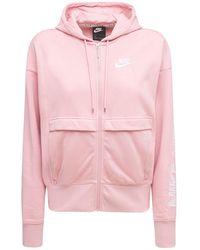 Nike コットンブレンドスウェットフーディー - ピンク