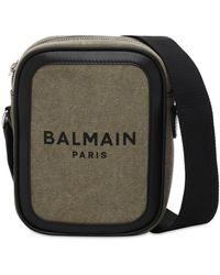 Balmain B-army キャンバスクロスボディバッグ - マルチカラー