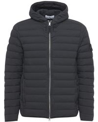Stone Island Real Hooded Down Jacket - Black
