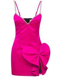 Area Embellished Sweetheart Satin Mini Dress - Pink