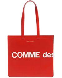 Comme des Garçons - Huge Logo レザートートバッグ - Lyst