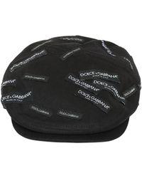 Lyst - Casquette noire Leaf Dolce   Gabbana pour homme en coloris Noir 2c9af7c950cf