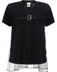 Noir Kei Ninomiya - コットンジャージーtシャツ - Lyst
