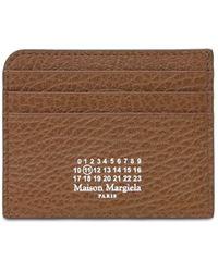 Maison Margiela Кожаная Кредитница - Коричневый