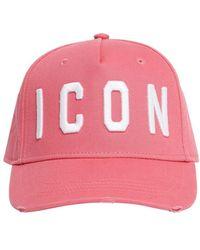 DSquared² Icon ギャバジンキャップ - ピンク