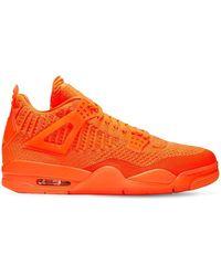 "Nike Sneakers ""air Jordan 4 Retro Flyknit"" - Orange"