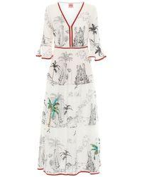 Le Sirenuse Bella コットンボイルドレス - ホワイト