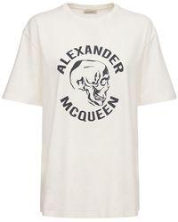"""Alexander McQueen Футболка Из Хлопкового Джерси С Принтом """"череп"""" - Белый"""