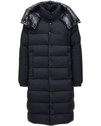 Moncler Пальто Из Нейлона На Пуху - Черный