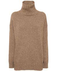 Ralph Lauren Collection カシミアリブニットブセーター - ブラウン