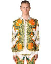 CASABLANCA Рубашка Из Шелка С Принтом - Многоцветный