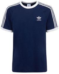 adidas Originals 3-stripes コットンtシャツ - ブルー