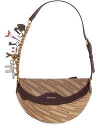Balenciaga - Jacquard & Leather Belt Pack W/ Charms - Lyst