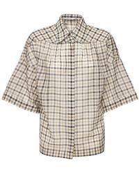 Agnona ウール&シルクシャツ - ナチュラル