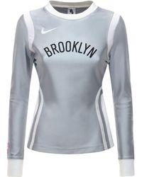 Nike Brooklyn Nrg Ir ナイロンブレンドトップ - グレー
