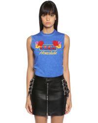 DSquared² - Honolulu Print Jersey Sleeveless T-shirt - Lyst