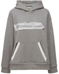 MM6 by Maison Martin Margiela Reversible Logo Jersey Hoodie - Grey