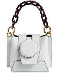 Yuzefi Daria Leather Top Handle Bag - White