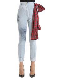 Ronald Van Der Kemp Jeans De Denim Efecto Descolorido Y Salpicado - Azul