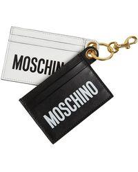 Moschino Кожаная Кредитница - Многоцветный