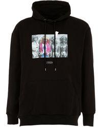 Throwback. Blondie Cotton Jersey Sweatshirt Hoodie - Black