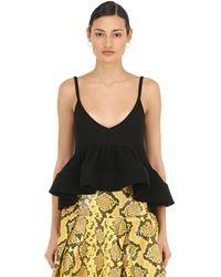Marques'Almeida Light Weight Knit Top W/ Crinoline Hem - Black