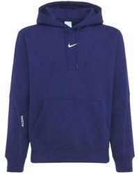 Nike Nocta Essential Sweatshirt Hoodie - Blue