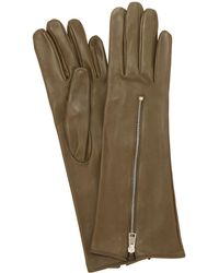 Mario Portolano - Zipped Mid Leather Gloves - Lyst