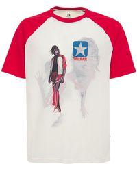 Converse T-shirt Aus Baumwollmischung - Weiß