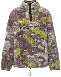 McQ Albion Crop Polar Fleece Sweater - Gray
