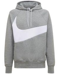 "Nike Pullover-hoodie Aus Technofleece ""swoosh"" - Grau"