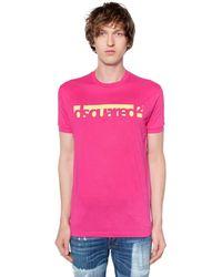 DSquared² - ロゴプリント コットンジャージーtシャツ - Lyst