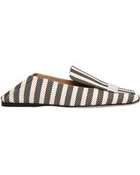 Sergio Rossi - 10mm Metal Plaque Woven Canvas Loafers - Lyst