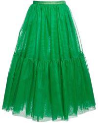 Rochas チュールスカート - グリーン