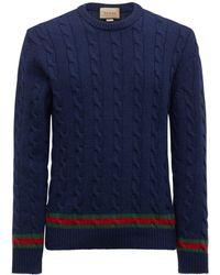 Gucci カシミア&ウールニットセーター - ブルー