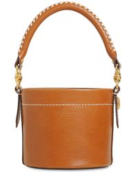 Tory Burch Miller Cantinee レザーバケットバッグ - ブラウン