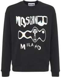 Moschino Glitch ジャージースウェットシャツ - ブラック