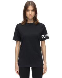 Reebok X Victoria Beckham サイドロゴコットンジャージーtシャツ - ブラック