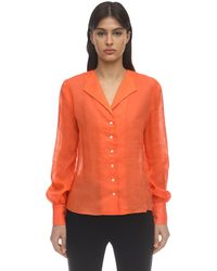 Maryam Nassir Zadeh Balance ガーゼシャツ - オレンジ