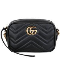 Gucci - Gg Marmont 2.0 ミニ レザーカメラバッグ - Lyst