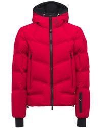 3 MONCLER GRENOBLE Skidaunenjacke Aus Nylon Mit Kapuze - Rot